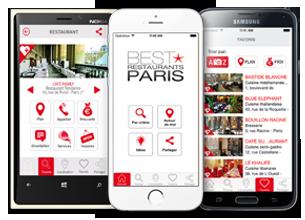 Best restaurants Paris Applications Mobiles